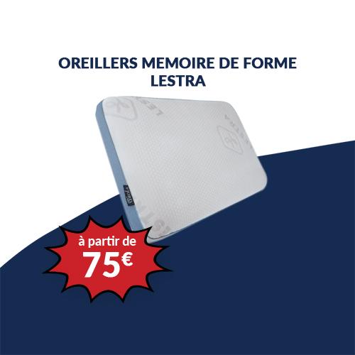 Oreillers MEMOIRE DE FORME LESTRA
